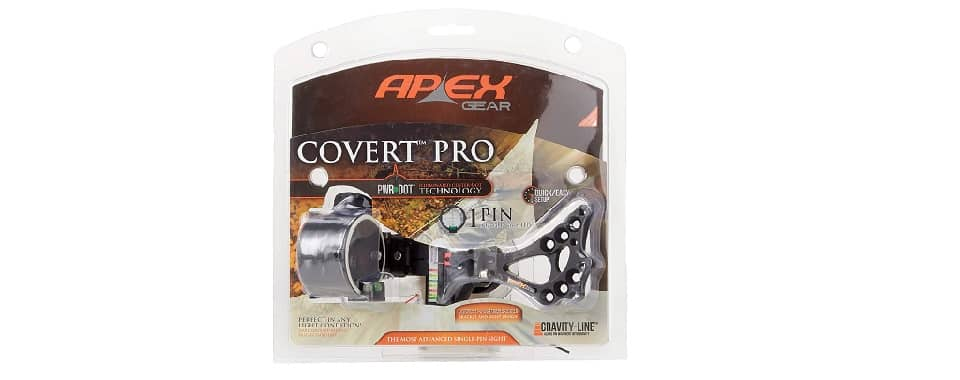 Covert Pro Sight – Best Bow Sight for Deer Hunting (Apex Gear)